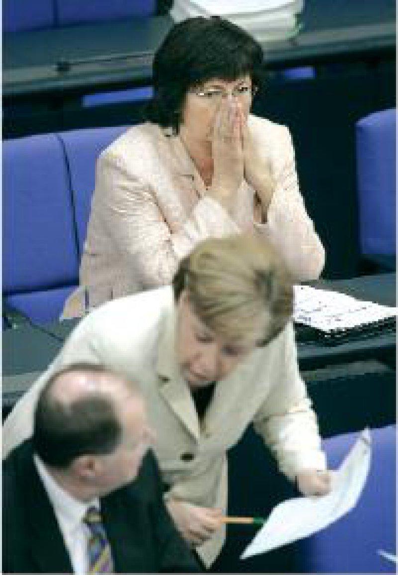 Foto:AP Im Mittelpunkt kontroverser Diskussionen um viel Geld: Bundesgesundheitsministerin Ulla Schmidt (SPD)