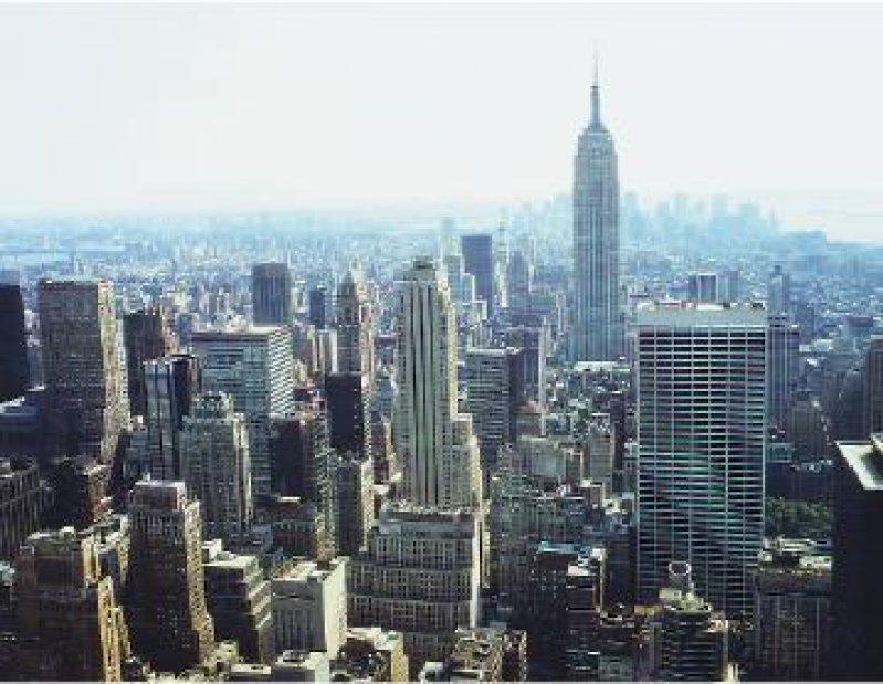 New York: Blick vom Dach des Rockefeller Centers über Manhattan Foto: Roland Motz