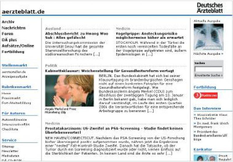 aerzteblatt.de mit neu gestalteter Homepage