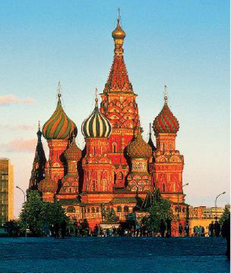 Wahrzeichen Moskaus: Die Basilius- Kathedrale am Roten Platz Fotos: Studiosus Gruppenreisen GmbH