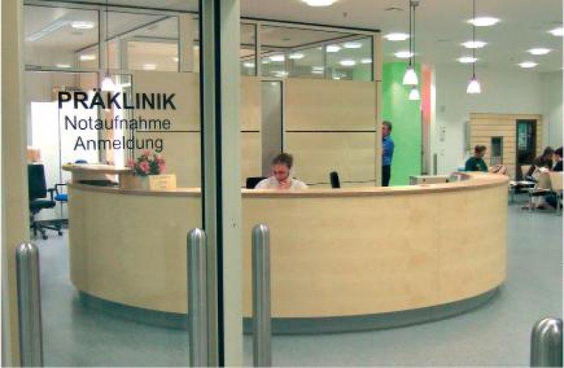 Neue Präklinik: Anlaufstelle für alle unangemeldeten und ungeplanten Notfallpatienten des Klinikums Foto: Koeniger