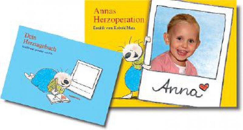 Kobold Mutz begleitet die dreijährige Anna zu ihrer Herzoperation.