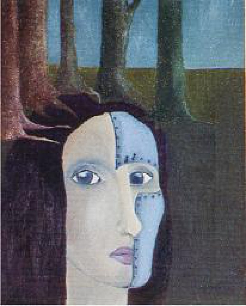 Eva Scherr Mein Gefängnis, 1992, Öl auf Leinwand, 24 x 30 cm