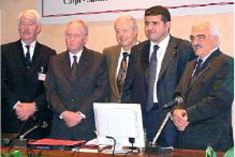 Philip Landrigan, President of the Collegium Ramazzini, Anders Englund, Schweden, Preisträger Hans- Joachim Woitowitz, Enrico Campedelli, Morando Sofritti, Bologna (von links). Foto: privat