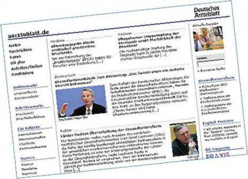 aerzteblatt.de 2006: Ein großes Informationsportal für gesundheitspolitische und medizinische Informationen im Internet