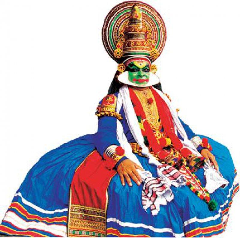 """Die Kathkali-Tänzer erzählen"""" in ihren Tanzdramen Geschichten aus den Hindu-Epen Mahabharata und Ramayana. Foto: Ministry of Tourism, India"""