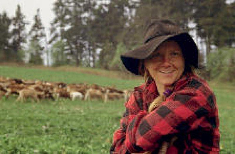 Die Ziegen von Hirtin Elisabeth Sandach sorgen dafür, dass die Landschaft nicht verkrautet.