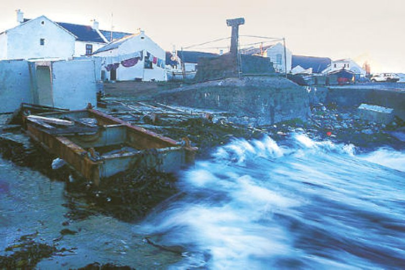 Verloren im Atlantik: Bei Sturm ist Tory Island oft tagelang vom Festland abgeschnitten. Fotos: Ulrich Willenberg