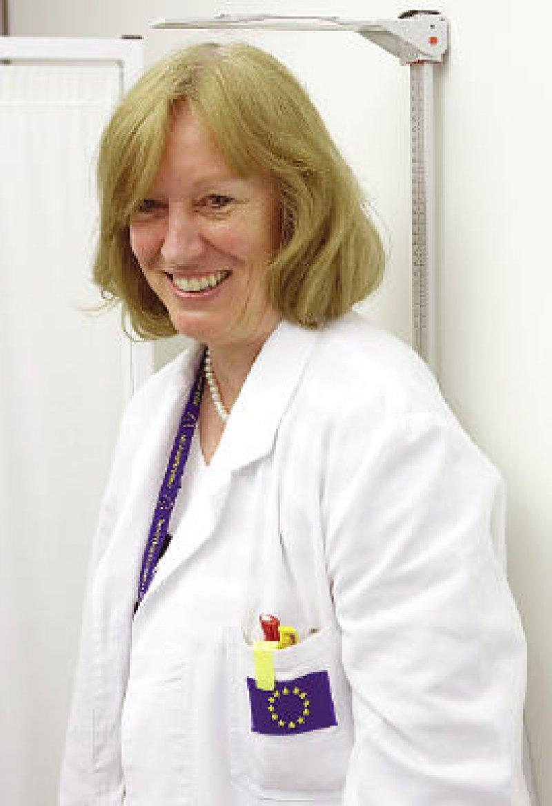 """Regine Esch kann sich eine Rückkehr in die Praxis nicht vorstellen. """"Im Medizinischen Dienst habe ich einfach mehr Möglichkeiten als in einer Niederlassung"""", sagt sie. Foto: Thierry Monasse"""
