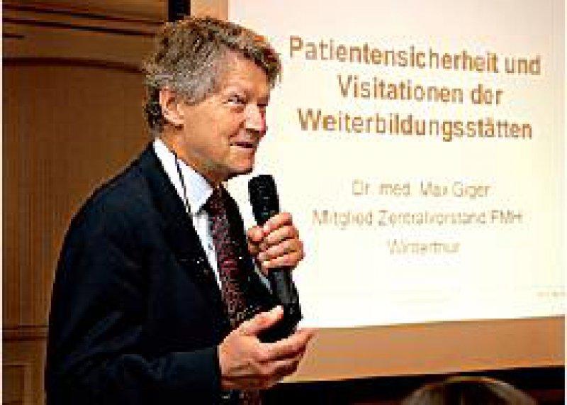Als großen Anhänger von Qualitätsmanagement bezeichnet sich Max Giger vom Zentralvorstand der Verbindung der Schweizer Ärztinnen und Ärzte.