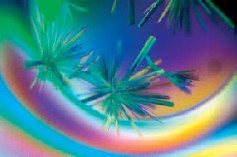 """Die Abbildung aus den """"Wellcome Images"""" zeigt Kristalle eines DNA-Reparaturproteins."""