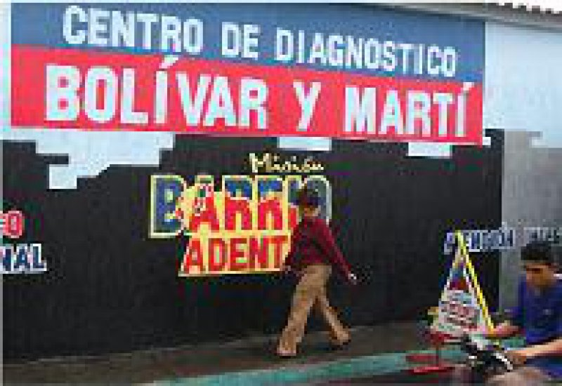 Barrio Adentro: Das medizinische Hilfsprogramm wurde 2003 mithilfe von 20 000 kubanischen Ärzten begonnen.