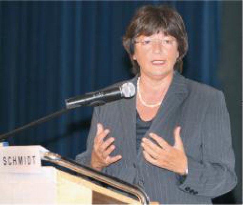 """Ulla Schmidt: """"Zielvorgaben sind heute, auch dank der Gesundheitsziele, ein wichtiges Thema."""" Foto: Redaktion Baganz"""