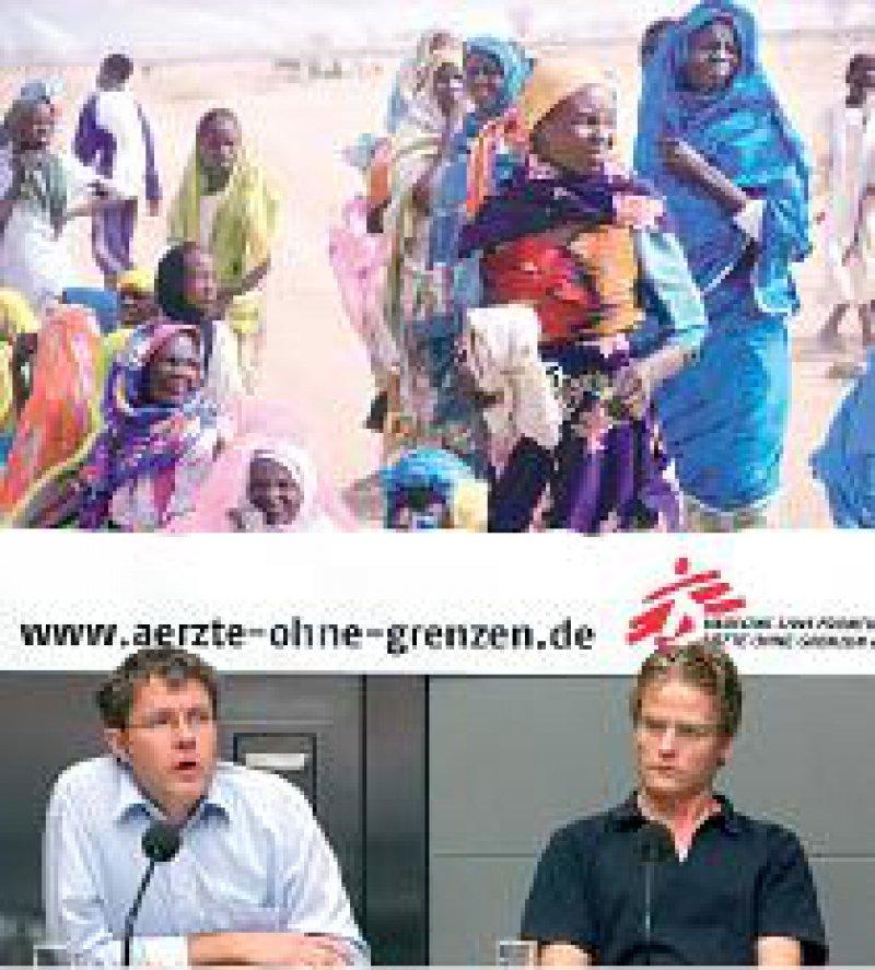 Den Tschad nicht vergessen: Joost Butenop und Tankred Stöbe von Ärzte ohne Grenzen (von links). Foto: dpa