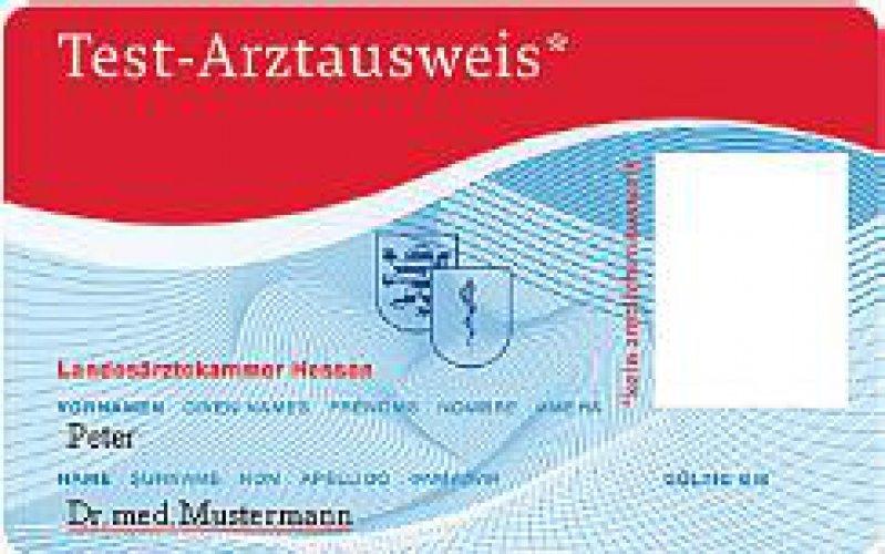Test-Arztausweis der Landesärztekammer Hessen