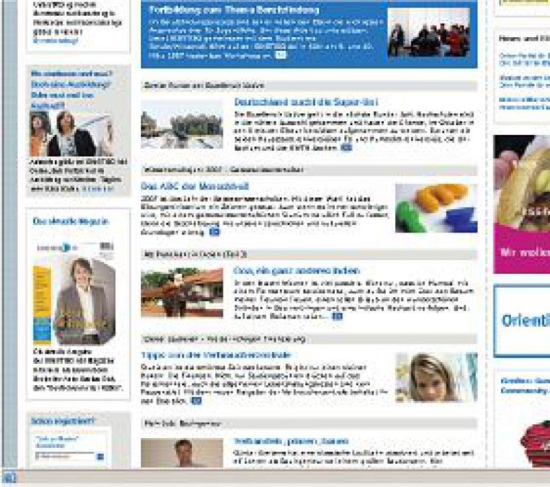 www.einstieg.com Das privatwirtschaftliche Unternehmen bietet Berufsfindungsworkshops für Eltern und Schüler an.
