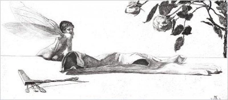 """""""Amor"""" (1880), Opus VI, Blatt 10 (Singer 122), Radierung und Aquatinta, 14,2 × 26,5 cm, Druck der 4. Auflage, 1898. Fotos: Eberhard Hahne"""