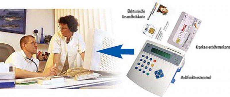 Elektronische Gesundheitskarte - Krankenversichertenkarte - Multifunktionsterminal