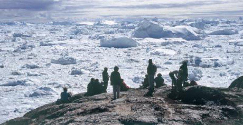 Eis, Eis und nochmals Eis – soweit das Auge reicht: der Eisfjord bei Ilulissat