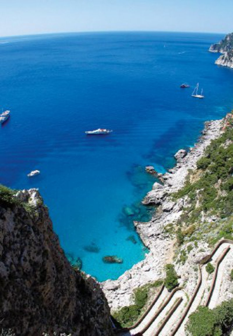 Capri:Blick auf die Via Krupp Foto:Mondial Tours GmbH