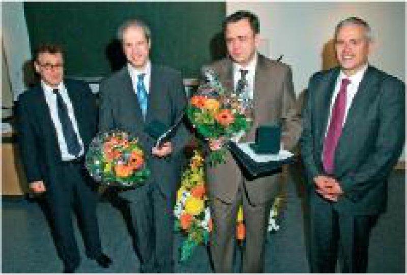 Hans-Jürgen Möller, Marcus Ising, Dan Rujescu, Ralf Schillings (von links) Foto: Janssen-Cilag GmbH