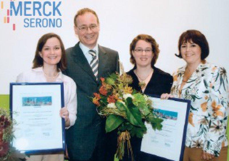 Margarete Maria Niebuhr, Jan C. Simon, Stephanie Schlickum, Patricia Pring-Akerblom (von links) Foto: Merck Serono