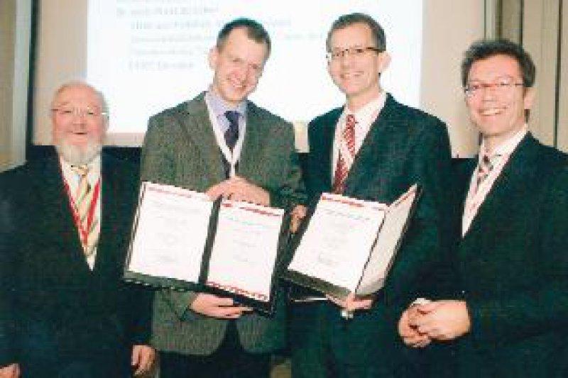 Helmut Pullmann, Cord Sunderkötter, Knut Schäkel, Stefan Simianer (von links) Foto: Wyeth-BioPharma