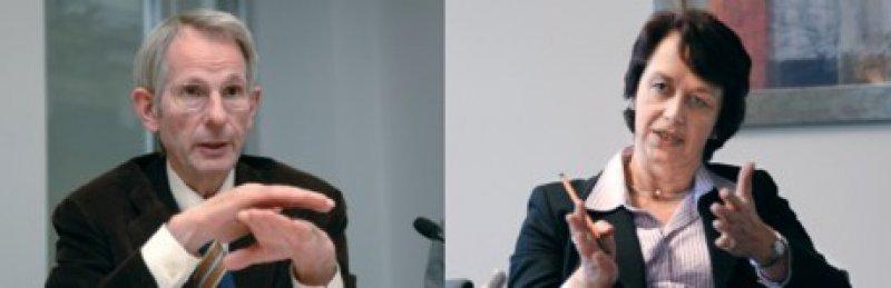 """In seltener Eintracht: Bundesärztekammerpräsident Prof. Dr. med. Jörg- Dietrich Hoppe und Kassenverbandschefin Dr. Doris Pfeiffer warnen vor einer """"Politisierung des Beitragssatzes"""". Foto: Marco Urban Foto: Jürgen Gebhardt"""