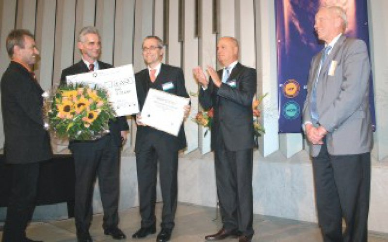 Julius Siebertz, Rainer Riedel, Gereon R. Fink, Bernd von Polheim und Johannes Schinke (von links) Foto: RFH