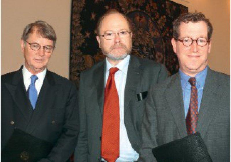 Darell D. Bigner, Jan Philipp Reemtsma, David N. Louis (von links)Foto: Andrea Matzker