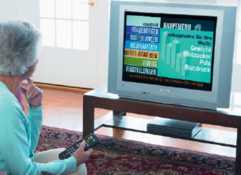 """Die TV-basierte Kommunikationsplattform """"Motiva"""" wurde für die Betreuung chronisch Kranker, wie etwa Herzinsuffizienzpatienten, entwickelt. Foto: T-Systems"""