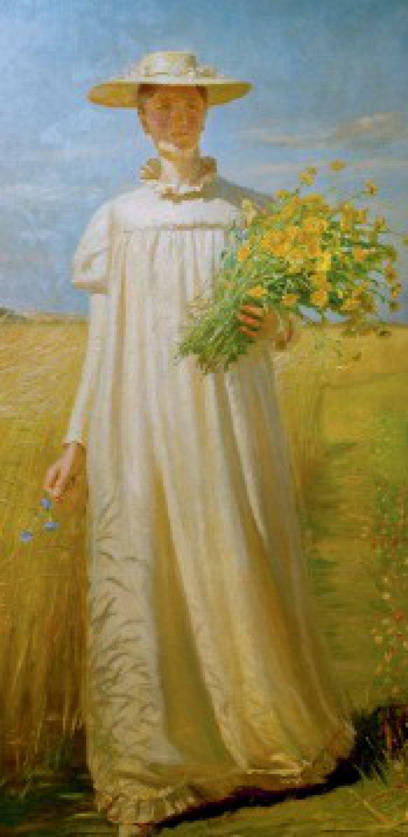 Glückskind: Anna Ancher, wie sie 1902 ihr Ehemann Michael malte. Foto: picture-alliance/akg-images