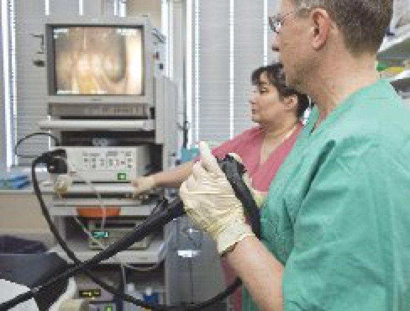 Endoskopie zur Darmkrebsfrüherkennung. Der HTA-Bericht ist in der DAHTA-Datenbank beim DIMDI kostenfrei als Volltext abrufbar (www.dimdi.de). Foto: dpa