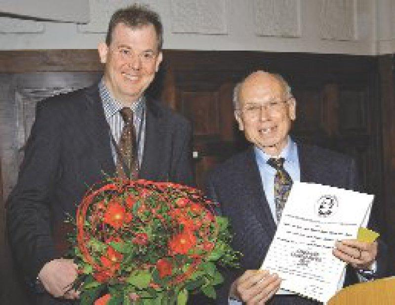 Gerd Schulte-Körne und Martin Schmidt (von links) Foto: Hermann-Emminghaus-Preis