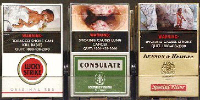 Drastische Darstellungen: Gesundheitsexperten setzen beim Rauchen auf Abschreckung. Foto: dpa
