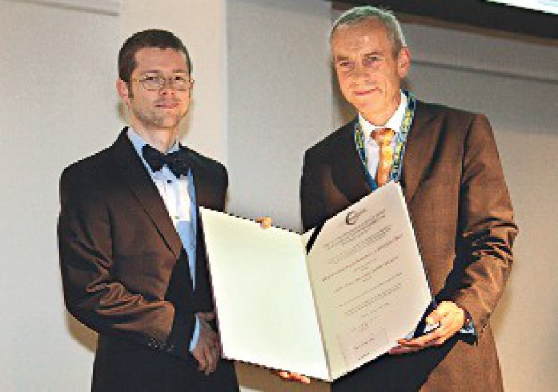 Marc Dewey und Michael Laniado (von links) Foto: Deutsche Röntgengesellsschaft