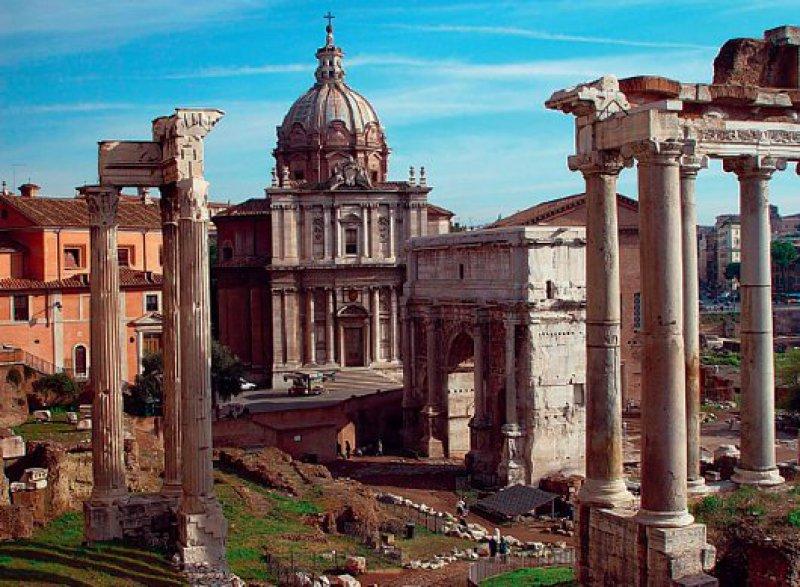 Das Forum Romanum: ehemals Zentrum des politischen, wirtschaftlichen und kulturellen Lebens. Foto: Mondial Tours GmbH