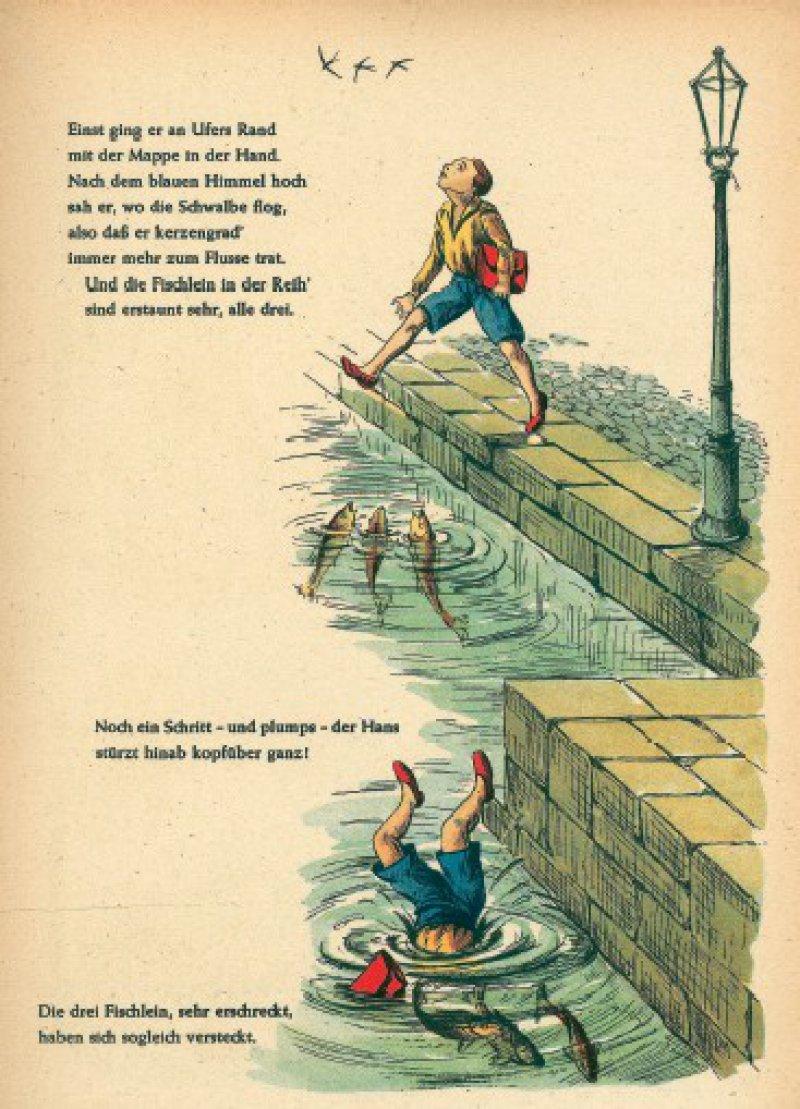 """Hans Guck-indie- Luft: eine der Geschichten, die Hoffmann in einer späteren Auflage des """"Struwwelpeter"""" ergänzte Foto: picture-alliance/akg-images"""