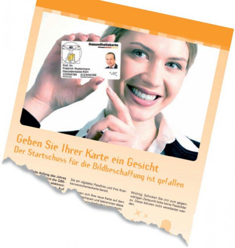 Infokampagne der GBK – Gemeinsame Betriebskrankenkasse Köln. Wie einige andere Kassen auch hatte die GBK bereits im August 2008 einen ersten Anlauf zur Bildbeschaffung unternommen. Quelle: www.gbk-koeln.de