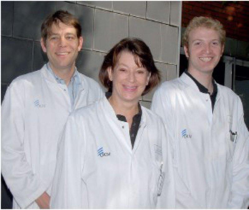 Claus-Michael Schmidt, Antoinette am Zehnhoff-Dinnesen, Lars Riedemann (von links) Foto: UKM