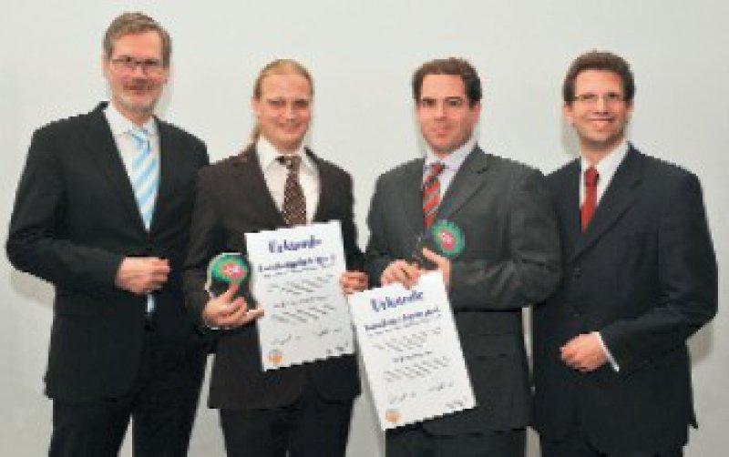 Frank Schneider, Udo Dannlowski, Robert Perneczky und Florian Pickert (von links) Foto: AstraZeneca Deutschland