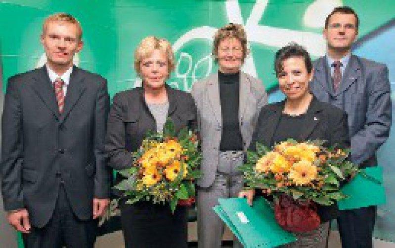 Jürgen Peter, Lotte Reilmann, Mechthild Ross-Luttmann, Maria Cartes, Horst Kierdorf (von links) Foto: AOK Niedersachsen