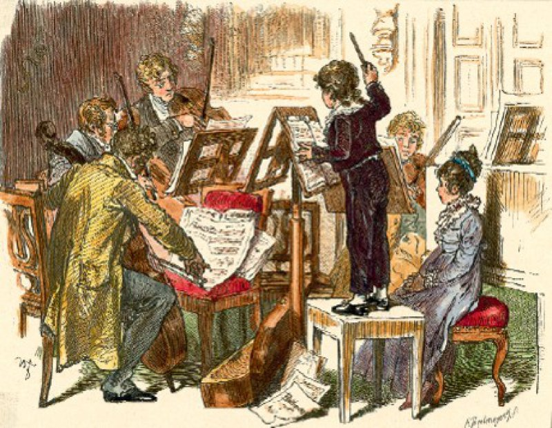 Der Komponist, Dirigent und Pianist Felix Mendelssohn- Bartholdy in einer zeitgenössischen Darstellung Fotos: Picture-Alliance akg-Images
