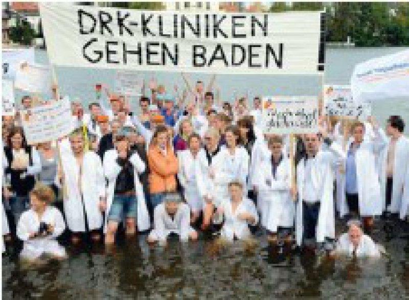 Der Streik hat sich gelohnt: Die Geschäftsführung der DRK-Kliniken lenkte ein. Foto: ddp