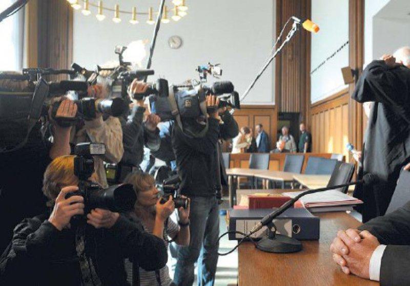 Das gewaltige Medieninteresse zu Beginn des Prozesses am Landgericht Mönchengladbach ist inzwischen merklich abgeflaut. Foto: ddp
