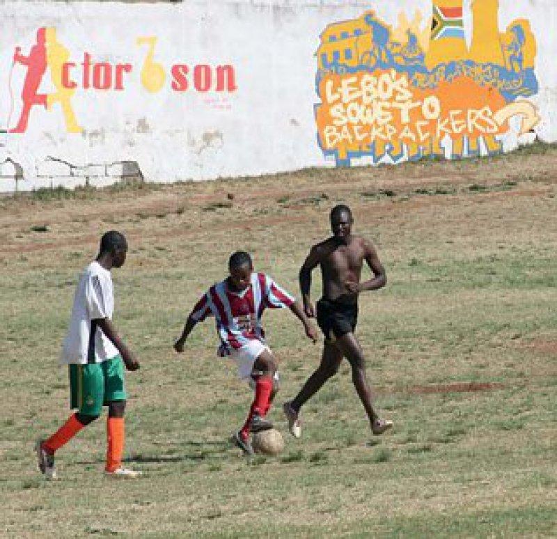 Fußball galt in Südafrika traditionell als Sport der Schwarzen.