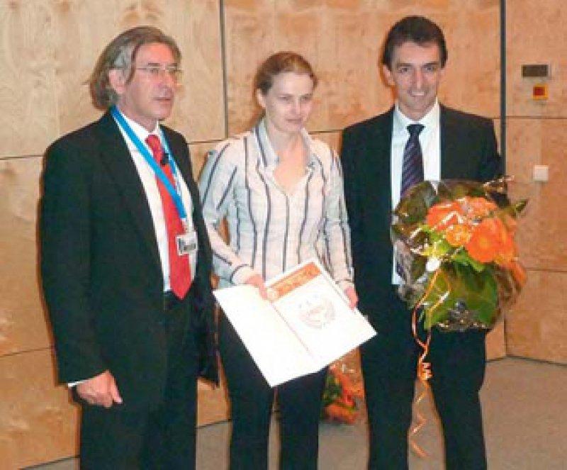 Thomas Möller, Ina Fuhrhop, Ivan Vidovic (von links). Foto: Rottapharm/Madaus GmbH