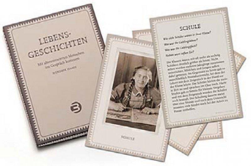 Hendrik Haase: Lebensgeschichten. Mit altersverwirrten Menschen ins Gespräch kommen. Balance Buch + Medien Verlag, Bonn 2010, 20 Seiten, 25 Karten, 12,95 Euro
