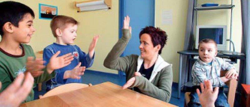 Vorschulische Erziehung in einer Grundschule. Foto: Caro