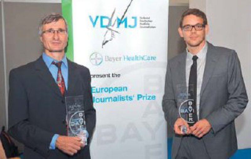 Hellmuth Nordwig und Martin Thür (von links), Foto: Verband Deutscher Medizinjournalisten